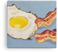 Eggs & Bacon Painting Canvas Print