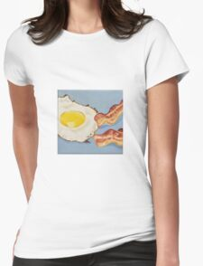 Eggs & Bacon Painting Womens Fitted T-Shirt