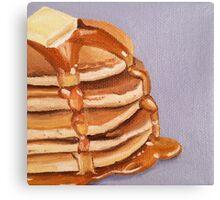 Buttermilk Pancakes Painting Canvas Print