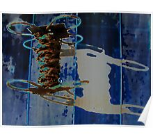 Rusty Wire in Abstract Poster