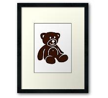 Brown teddy bear Framed Print