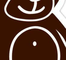 Brown teddy bear Sticker