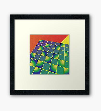 Retro style perspective Framed Print