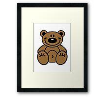 Smiling teddy bear Framed Print