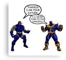 Join the Darkseid Thanos! Canvas Print