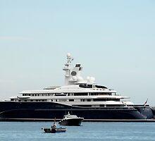 Yacht AL Mirqab at Monaco Harbor by Julien  Rubicondo