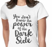 Star Wars Typography Womens Fitted T-Shirt