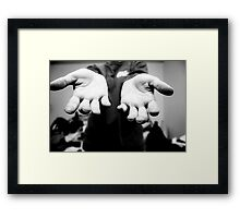 The Hands That File Framed Print