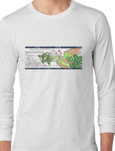 Mugwort Cake and Wild Mint Tea Long Sleeve T-Shirt