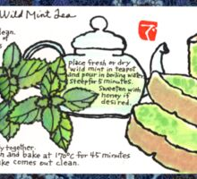 Mugwort Cake and Wild Mint Tea Sticker