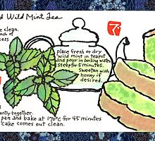 Mugwort Cake and Wild Mint Tea by dosankodebbie