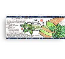 Mugwort Cake and Wild Mint Tea Canvas Print