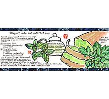 Mugwort Cake and Wild Mint Tea Photographic Print
