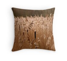 Reeds at Fowlmere Throw Pillow