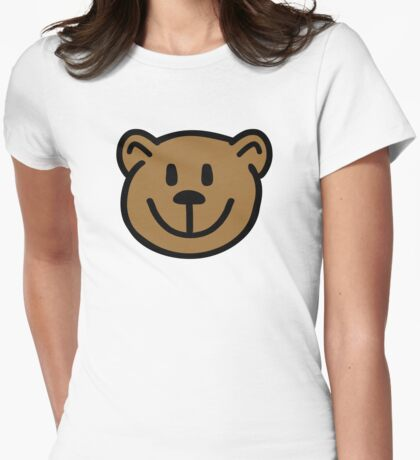 Teddy bear face Womens Fitted T-Shirt