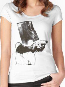 monkey scream monkey shoot Women's Fitted Scoop T-Shirt