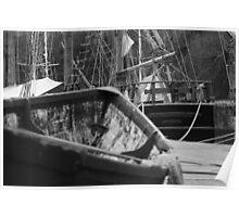 Tall ship, Charlestown, England Poster