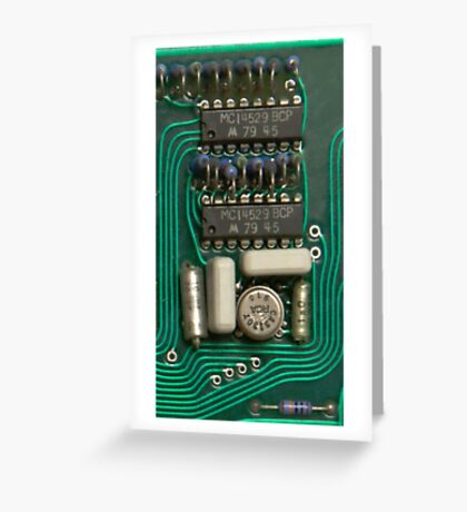 Circuit - recycling old electronics Greeting Card