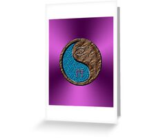 Cancer & Rooster Yin Earth Greeting Card