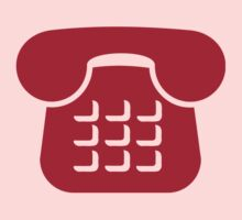 Red telephone icon Baby Tee