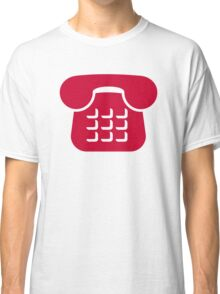 Red telephone icon Classic T-Shirt