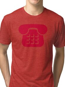 Red telephone icon Tri-blend T-Shirt