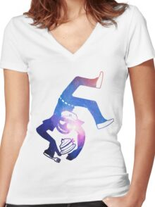 Vincent (Purple Guy) Space Women's Fitted V-Neck T-Shirt