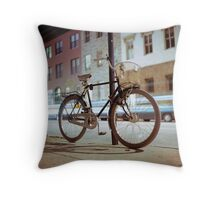 City Bicycle Throw Pillow