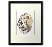 Lions Don't Lose Sleep Framed Print