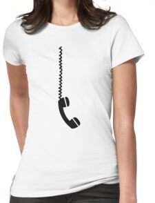Telephone receiver cable Womens Fitted T-Shirt