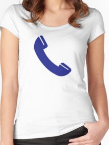 Telephone receiver Women's Fitted Scoop T-Shirt