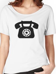 Telephone symbol Women's Relaxed Fit T-Shirt