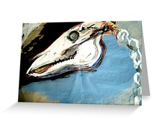 Horse Skull expressive painting Greeting Card