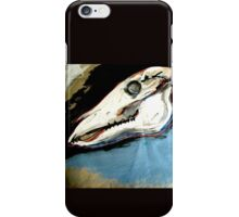 Horse Skull expressive painting iPhone Case/Skin