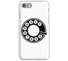 Telephone dial plate iPhone Case/Skin
