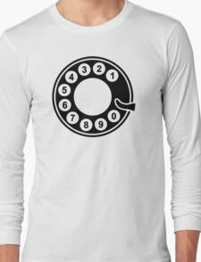 Telephone dial plate Long Sleeve T-Shirt