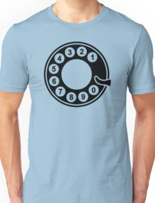 Telephone dial plate Unisex T-Shirt
