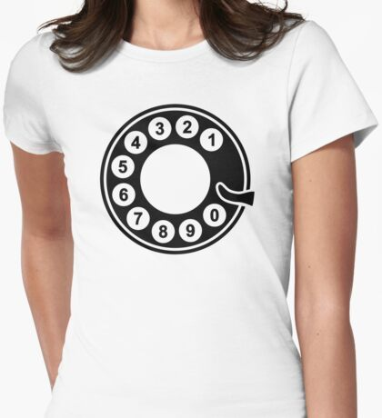 Telephone dial plate Womens Fitted T-Shirt