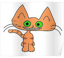 Tiger Kitten with a Big Smile Poster
