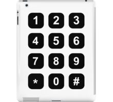 Telephone dial numbers iPad Case/Skin