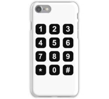Telephone dial numbers iPhone Case/Skin