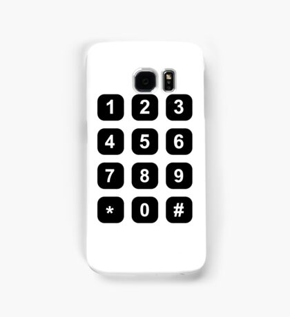 Telephone dial numbers Samsung Galaxy Case/Skin