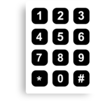 Telephone dial numbers Canvas Print