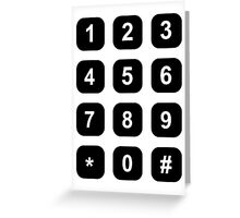 Telephone dial numbers Greeting Card
