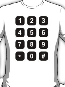 Telephone dial numbers T-Shirt