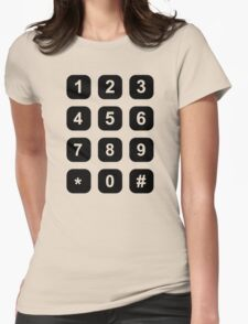 Telephone dial numbers Womens Fitted T-Shirt