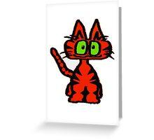 Dark Orange Tiger Cat Greeting Card