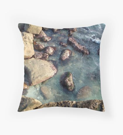 Shoreline I Throw Pillow