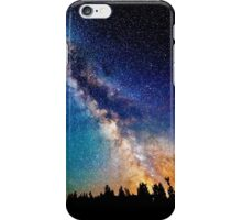 Galaxy with tree fronting  iPhone Case/Skin