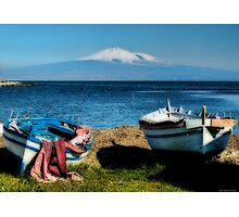 Etna  from Brucoli, Sicily Photographic Print